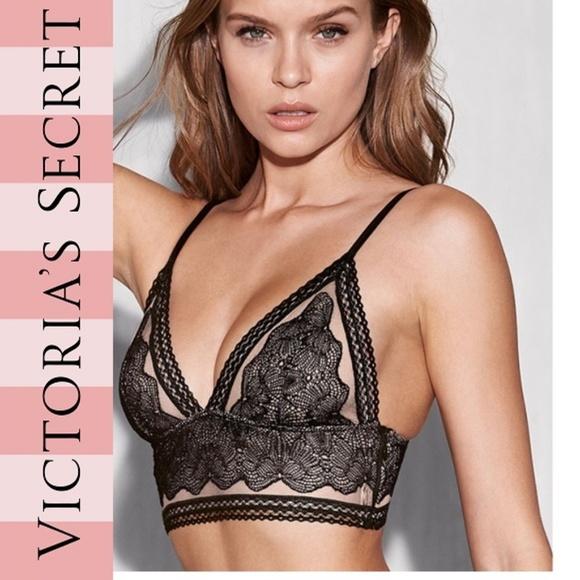 6e8200ea0bf6a Victoria s Secret Lace Bra Bralette Longline Lace